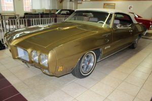 1970 Pontiac GTO Convertible Pre-Purchase Classic Car Inspection in Showroom