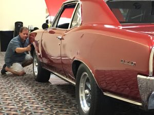 Steven Appraising a 1966 Pontiac GTO at the 2017 GTO National Convention