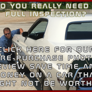 Pre-Purchase Vehicle Photo Review