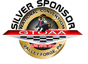 GTO AA National Convention Silver Sponsor Badge Black Letters