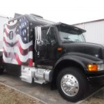 Navistar, International, Semi Truck, Race Car Hauler, Americana