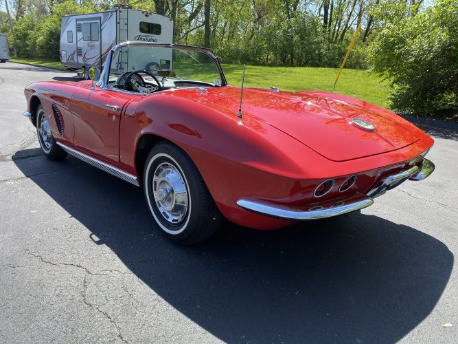 Pre-purchase Classic Car Inspection Of A 1962 Chevrolet Corvette In St Louis