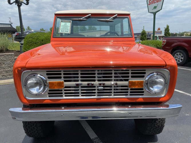 Classic Car Inspection Of A 1970 Ford Bronco At Fast Lane Classic Cars In St Charles, Mo
