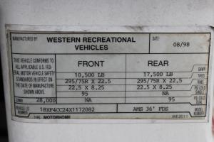 1999 Motorhome Diesel Pusher Pre-Purchase Inspection 240
